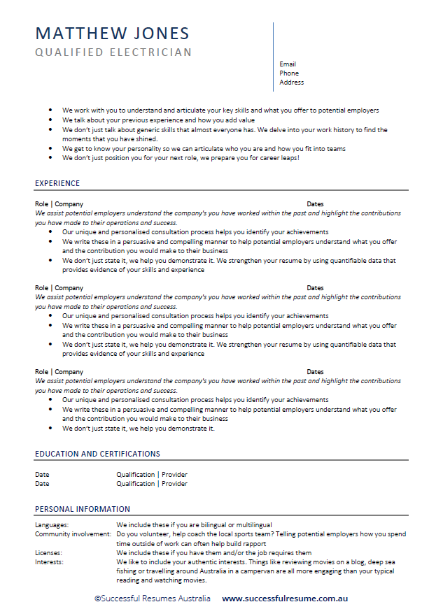 professional resumes for india  u0026 international markets